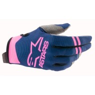 ALPINESTARS RADAR GLOVES 2021 DARK BLUE / PINK FLUO COLOUR