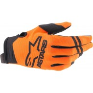 ALPINESTARS YOUTH RADAR GLOVES 2021 ORANGE / BLACK COLOUR