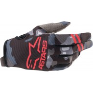 ALPINESTARS YOUTH RADAR GLOVES 2021 GREY CAMO / RED FLUO COLOUR