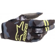ALPINESTARS YOUTH RADAR GLOVES 2021 GREY CAMO / YELLOW FLUO COLOUR