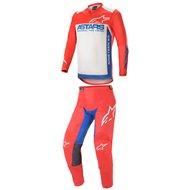 COMBO ALPINESTARS RACER SUPERMATIC 2021 BRIGHT RED / BLUE / WHITE COLOUR