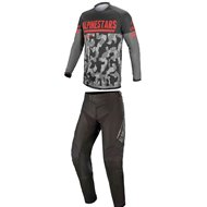 COMBO ALPINESTARS VENTURE R 2021 CAMO GREY / FLUO RED COLOUR