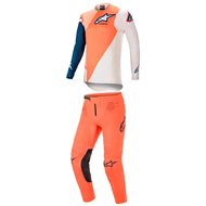COMBO YOUTH ALPINESTARS RACER BLAZE 2021 ORANGE / DARK BLUE COLOUR