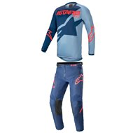 COMBO YOUTH ALPINESTARS RACER BRAAP 2021 DARK BLUE / POWDER BLUE / BRIGHT RED COLOUR