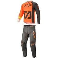 COMBO YOUTH ALPINESTARS RACER COMPASS 2021 ORANGE / ANTHRACITE / WHITE COLOUR
