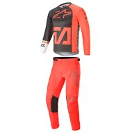 COMBO YOUTH ALPINESTARS RACER COMPASS 2021 ANTHRACITE / FLUO RED / WHITE