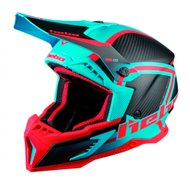 OUTLET CASCO ENDURO-MX HEBO LEGEND CARBON TURQUESA