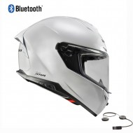 CASCO INTEGRAL HEBO HR-P01 SEPANG BLUETOOTH 2021 COLOR BLANCO BRILLO