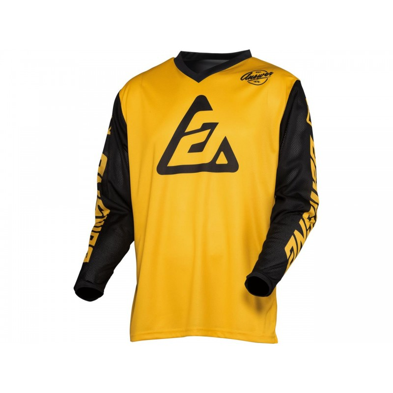 CAMISETA ANSWER ARKON BOLD 2021 COLOR AMARILLO/NEGRO