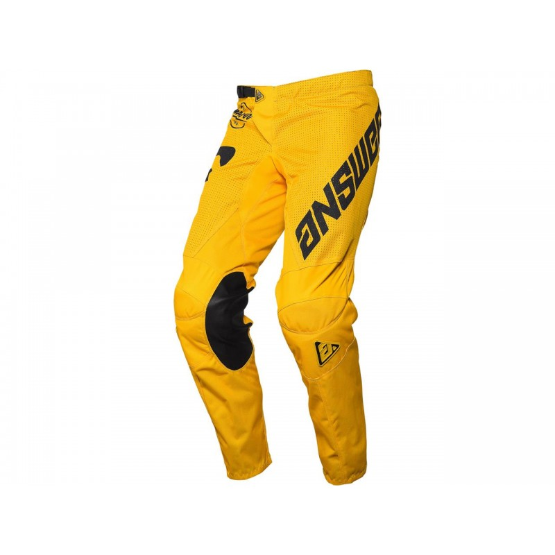 PANTALÓN ANSWER ARKON BOLD 2021 COLOR AMARILLO/NEGRO