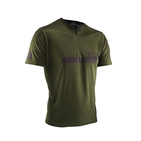 OUTLET CAMISETA LEATT 1.0 ZIP COLOR BOSQUE