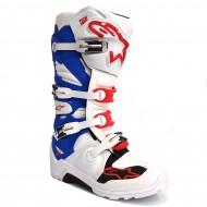 ALPINESTARS BOOT TECH 7 ENDURO WHITE / BLUE / RED COLOUR