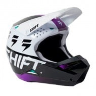 SHIFT YOUTH WHITE LABEL UV HELMET 2021 WHITE / ULTRAVIOLET COLOUR