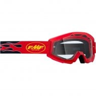 YOUTH 100% FMF FLAME GOGGLES 2021 RED COLOUR - CLEAR LENS
