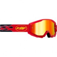 YOUTH 100% FMF FLAME GOGGLES 2021 RED COLOUR - RED MIRROR LENS
