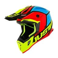 CASCO JUST1 J38 BLADE 2019 COLOR AMARILLO / ROJO / AZUL / NEGRO BRILLO