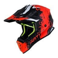 CASCO JUST1 J38 MASK COLOR AZUL / ROJO / NEGRO