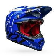 BELL MOTO-9 FLEX FASTHOUSE HELMET COLOUR BLUE / WHITE / BLACK GLOSS