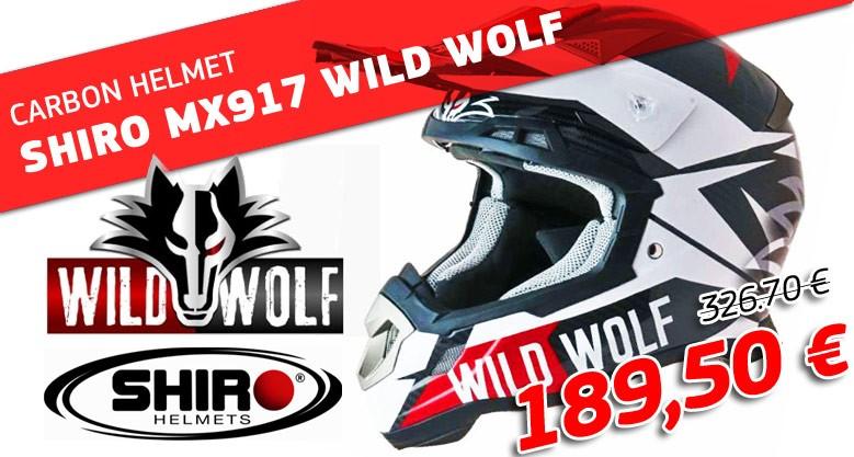 CARBON HELMET SHIRO MX917 WILD WOLF
