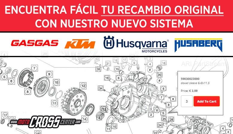 Nuevo sistema de recambios ONLINE HUSQVARNA/KTM/GASGAS