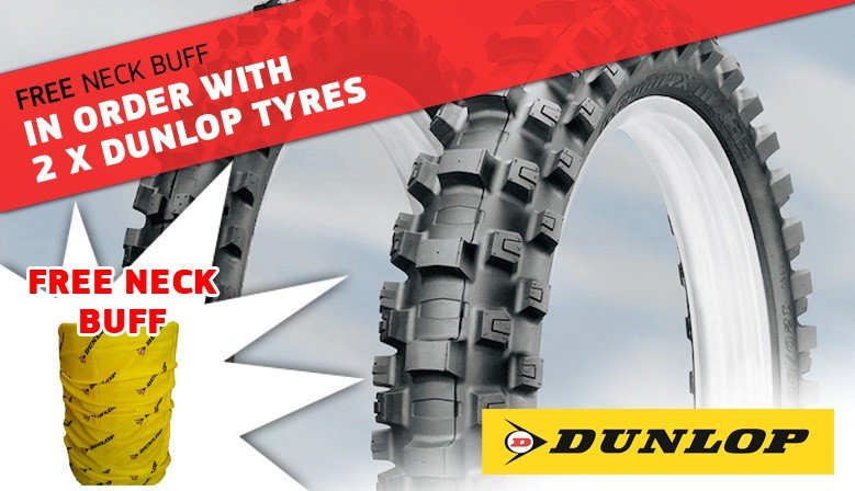 FREE DUNLOP BUFF WITH 2 DUNLOP TYRES